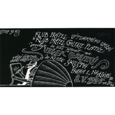 Pozvánka - Večer grafiků 22.11.1980