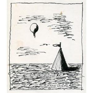 Stan s balónem v krajině