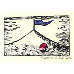 Koule a kopec s vlajkou sedmdesátin (poděkování k sedmdesátinám)