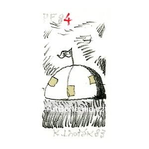 Kulatý stan s vlajkou - PF 1974