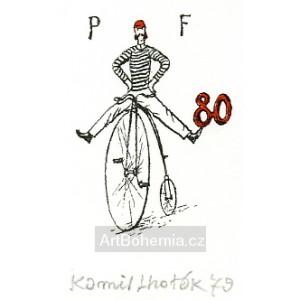 Cyklista na kostitřasu - PF 1980 Kamil Lhoták