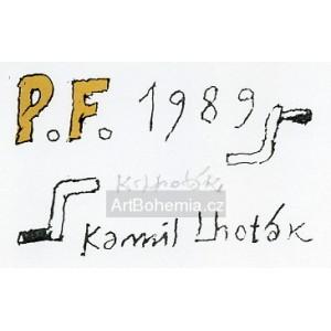 Dvě automobilové kliky - PF 1989 Kamil Lhoták