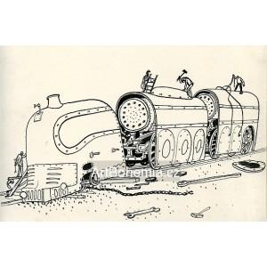 Rozřezávání obrovské lokomotivy (Pohádky o mašinkách)