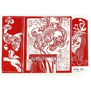 Abstrakce na piedestalu - PF 1975 Josef Liesler