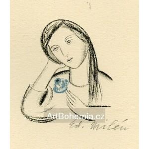 Dívka s modrou růží