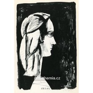 Profil au fond noir (Profile on black background) (29.3.1947)
