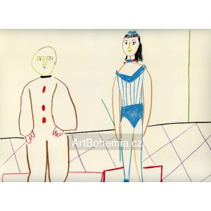 Circus Tamer and Pierrot (La Comédie Humaine)