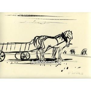 Koně na poli (Žně), opus 196