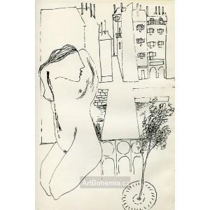 Akt v pařížském parku (Paříž 1945)
