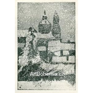 Chrám sv.Mikuláše na Malé Straně v zimě