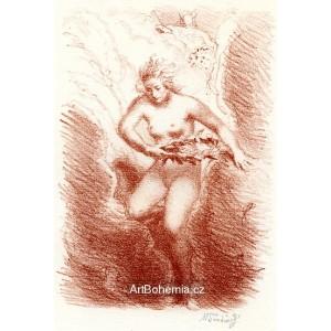 Bohyně házející věnec z oblaku, opus 326