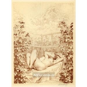 Opalující se nahá žena I, opus 478