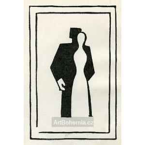 Černá a bílá figura