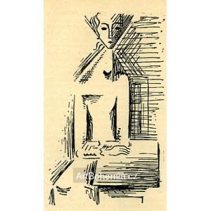 Dívka za stolem (Červen)