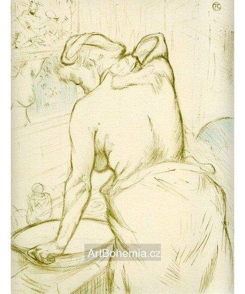femme se lave