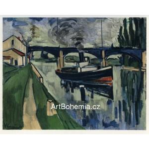 La Seine a Poissy - The Seine at Poissy (1908)
