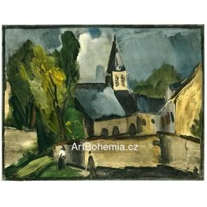 L´église de Bougival - Church at Bougival (1913)