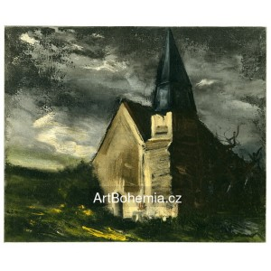 L´église de Saint-Lubin-de-Cravant - Church at Saint-Lubin-de-Cravant (1934)