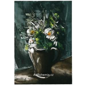 Fleurs au pot de gres - Flowers in Stoneware Jug (1955)