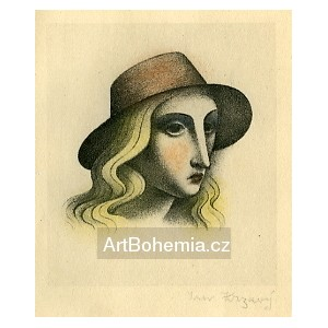Dívka v klobouku