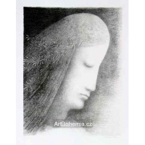 Ověnčená hlava anděla (Hlava Panny Marie ke Zvěstování), opus 46