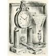 Hodiny se skleničkou a kladívkem, opus 1006 - PF 1949 Jeřábkovi