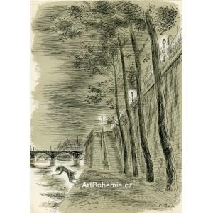 Dívka vrhající se z nábřeží do Seiny, opus 942