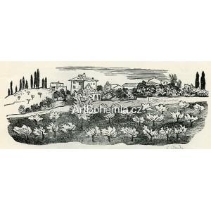 Kvetoucí stráň u Florencie - PF 1934 Cyril Bouda, opus 423
