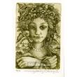 Léto - Dívčí hlava s náhrdelníkem