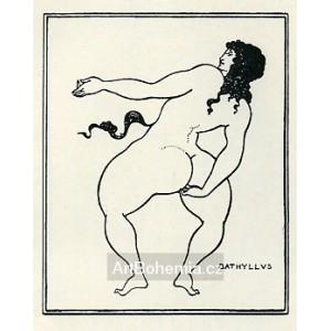 Bathyllus tančí s Ledou (Juvenalis - Satyra VI)