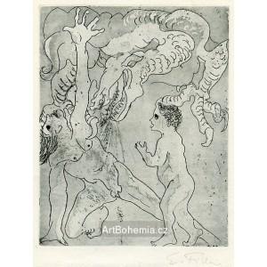 Otec a syn napadeni drakem války, opus 145