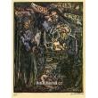 Múzy, sběratel a Elf - (černá kontura - autorský tisk)