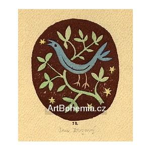 Ptáček ve větvích (hnědá varianta)