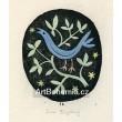 Ptáček ve větvích (černá varianta)