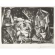 Minotaure aveugle guidé par une fillette dans la nuit (Vollard) (1933), B.225