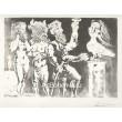 Personnages masqués et femme oiseau (Suite Vollard) (1934), opus B.227