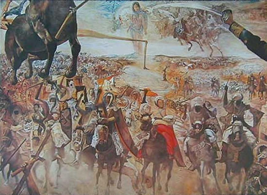 Salvador Dalí - La bataille de Tétouan