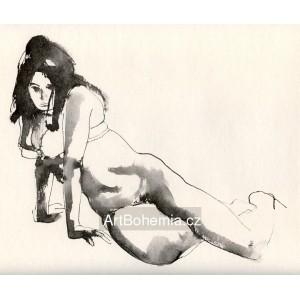 Klečící akt (1971) III
