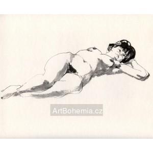 Ležící akt (1971) XVII