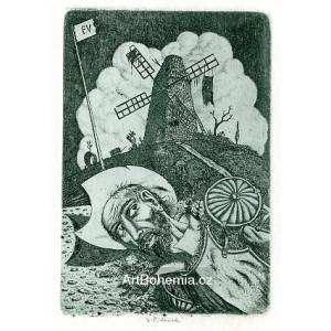 Don Quijote s větrným mlýnem