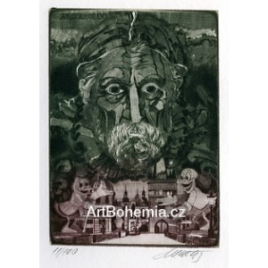 Giuseppe Arcimboldo v Praze (zelená varianta)