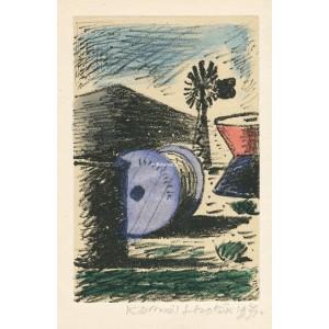 Barel, stroj pouště a větrný mlýn