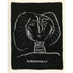 Tête de femme, fond noir (Woman´s head on black background) (2.11.1946)