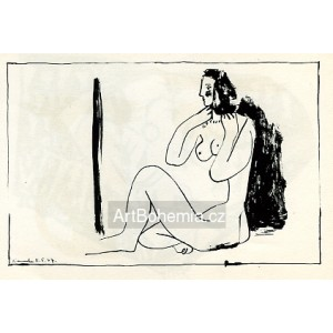 Petit nu assis au miroir (Small nude figure seated at the mirror) (11.5.1947)