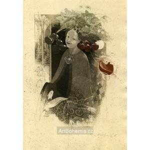 Dáma s třešněmi - Anna Falcká, druhá manželka Karla IV. (Karel IV.- vlastní životopis)