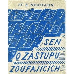 S.K.Neumann - Sen o zástupu zoufajících (linorytová obálka)