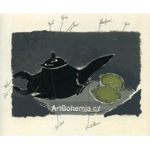 Théiere et citrons - premier état (1949), opus 21