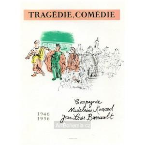 Tragédie, comédie - Jean Louis Barrault, 1956 (Les Affiches originales)