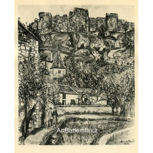 Église et Chateau de Florac (1928)