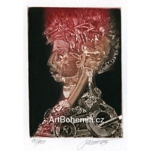 Giuseppe Arcimboldo: Oheň (hnědá varianta)